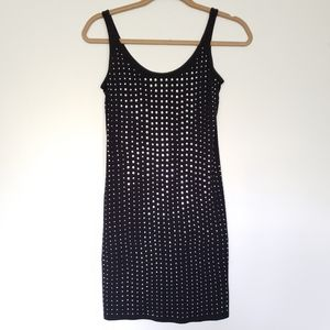 Express Black Tank Dress With Silver Studs